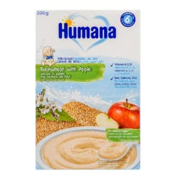 front view of buckwheat apple cereal